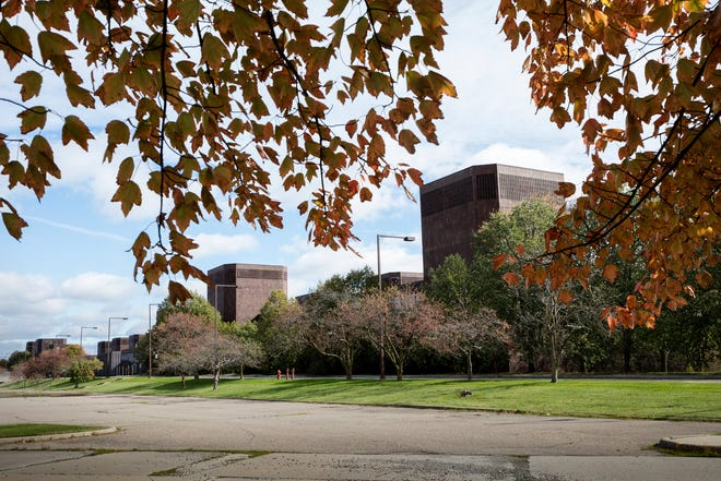 The old Kmart headquarters complex on Big Beaver Road and Coolidge is seen eastward from the Cunningham entrance in Troy, Mich., Thursday, October 17, 2019.