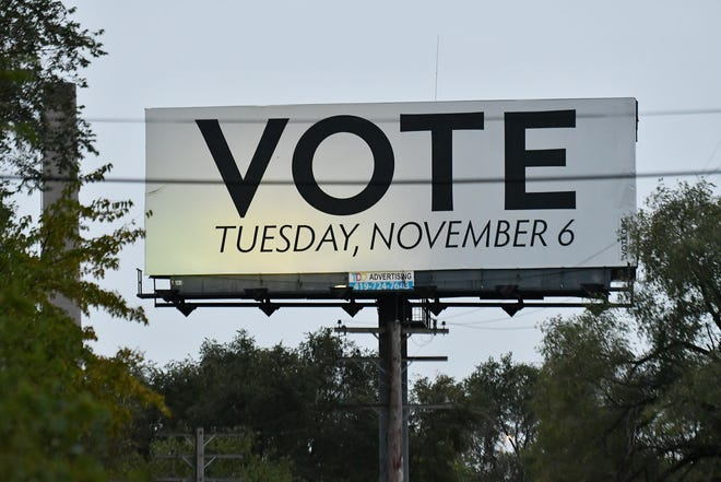 "The billboard on southbound I-75 reads ""Vote Tuesday, November 6."" Election Day is really Tuesday, Nov. 5."