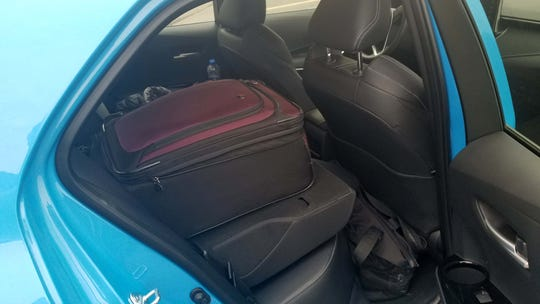 Fold the rear seats flat and the 2019 Toyota Corolla Hatchback makes more cargo room.
