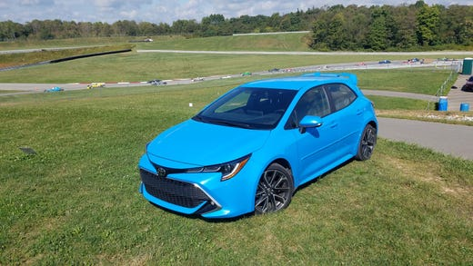 The 2019 Toyota Corolla Hatchback is a sporty beast with a new chassis, independent rear suspension and tidy handling. You might be tempted to take it on the Pittsburgh International Raceway, seen in background.