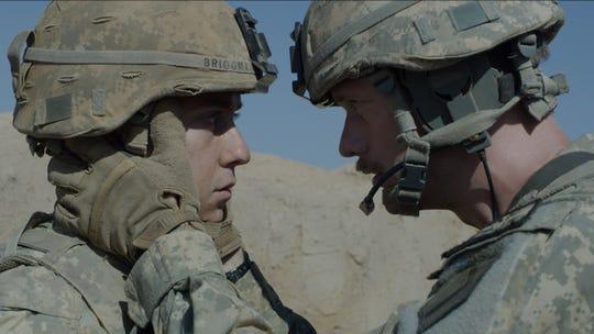 """Nat Wolff and Alexander Skarsgård in """"The Kill Team."""""""