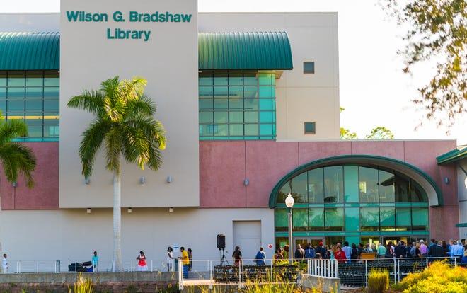The Wilson G. Bradshaw Library at Florida Gulf Coast University.