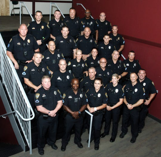 A group photo of the SROs with the Cape Coral Police Department.