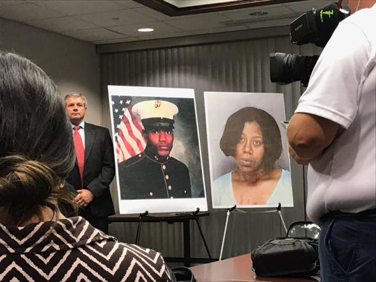 The State Attorney's Office, 20th Judicial Circuit and the Fort Myers Police Department announced a grand jury indictment of Michelle Ashley, also known as Michelle Jackson, shown on right, in the 1997 slaying of Keith Jones, a retired Marine.