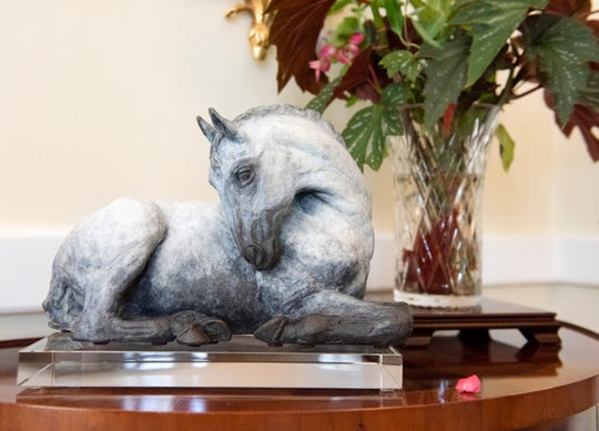 A sculpture of a horse by Ann Malphrus