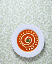 Insta-comfort tomato coconut soup will delight the taste buds and warm you up.