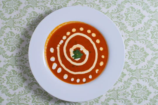 Insta-comfort tomato coconut soup