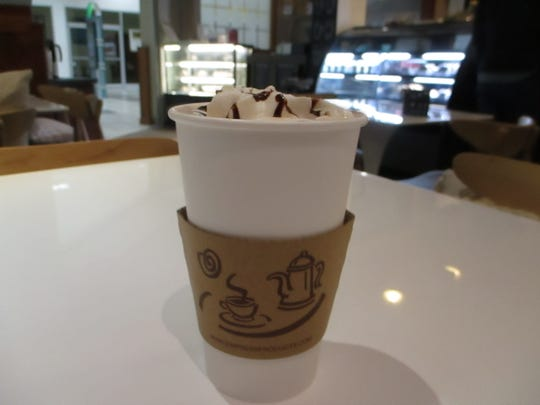 The Chocolate Pumpkin Latte at T. Spoons, a seasonal drink at the cafe.