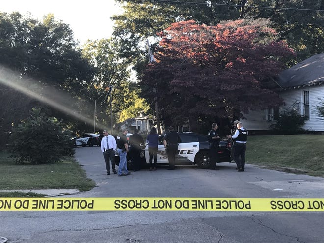Jackson police are on scene at a home on Williams Street near North Fairground Street, where a man is believed to have barricaded himself after running from officers on Tuesday.