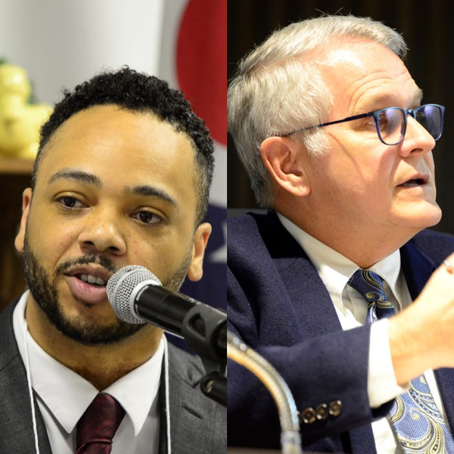 The two mayoral candidates squared off in a debate hosted by WMFD Monday, just four days after they debated at the Renaissance Theatre.