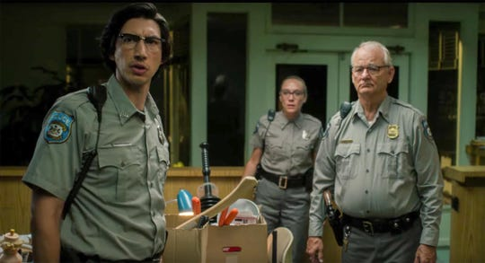 """Adam Driver, Chloe Sevigny and Bill Murray are reluctant zombie fighters in """"The Dead Don't Die."""""""