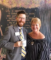 Jacob Winge from United Group Companies was guest speaker at the October 17 Kiwanis meeting where he spoke about the Sandlewood Village, a new type of retirement living. Above, 
