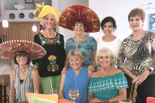 Senoritas Pam Brink, Susie Walsh, Pam Cote, Connie D'Errico, Betsy Zinner, Marge Superits and Pam Clune.