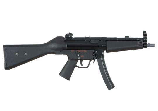 A Heckler & Koch MP5, like the ones undercover FBI agents sold to Samy Hamzeh.