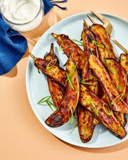 """Miso Glazed Eggplant is a favorite of the newest authors of """"Joy of Cooking,"""" Megan Scott and John Becker."""