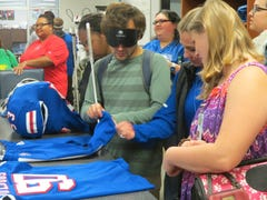 Touchdown Touch Tour gives blind students a feel for Louisiana Tech Athletics