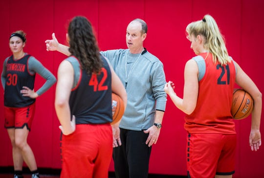 Womens basketball head coach Brady Sallee at the Dr. Don Shondell Practice Center Tuesday, Oct. 22, 2019.