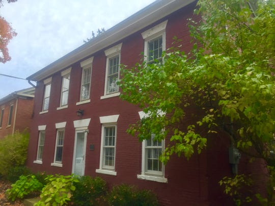 This former residence at 133 E. College St. dates to 1823 and currently includes Granville Township Fire Department administrative offices and a weight room.