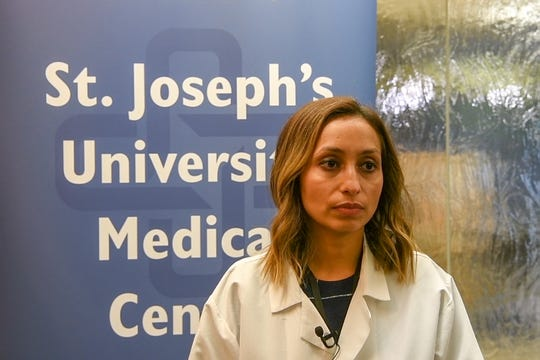 Dr. Maliha Ahmad, St. Joseph's hepatitis and liver expert, discusses the increase in hepatitis cases in New Jersey at St. Joseph's University Medical Center in October.