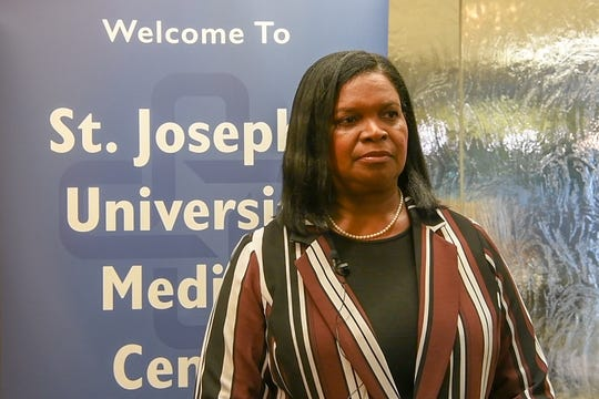 Charlene Gungil, PhD, the Passaic County Health Officer, discusses the increase in hepatitis cases in Passaic County at St. Joseph University Medical Center on Tuesday, October 22, 2019.