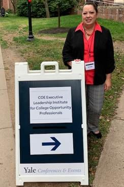Trese Collins, New Mexico State University TRIO Student Support Services program coordinator, attended the third annual Council for Opportunity in Education Executive Leadership Institute for College Opportunity Professionals at Yale University in New Haven, Connecticut, in early October.