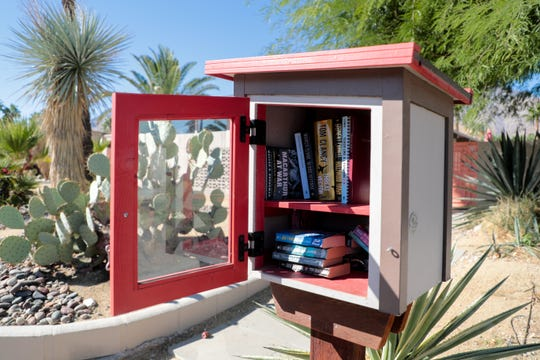 Little Free Library locations sit available to the public on Tuesday, October 22, 2019 in Palm Springs, Calif.