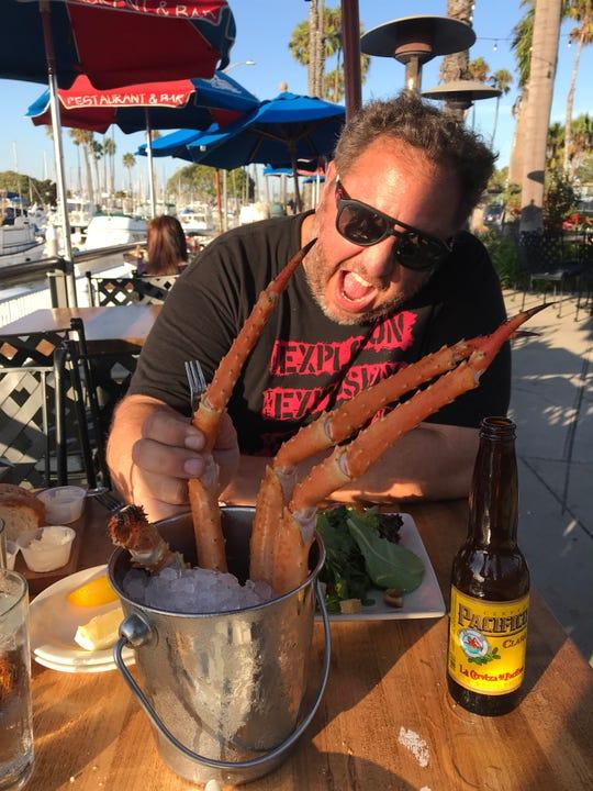 Head to Alamitos Bay near Long Beach, Calif., to enjoy fresh seafood like king crab.