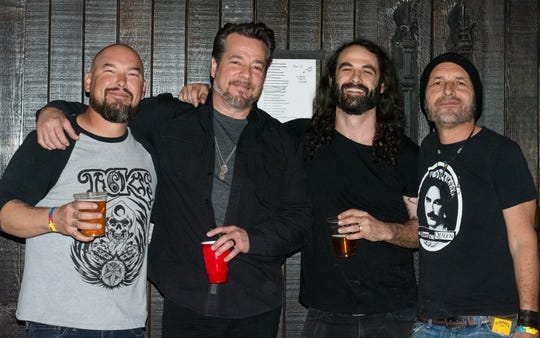 John Garcia and the Band of Gold at the 2019 Concert for Autism at the Tack Room Tavern in Indio, Calif. on Oct. 19, 2019. From left: Mike Pygmie, John Garcia, Aaron Groban and Greg Saenz.