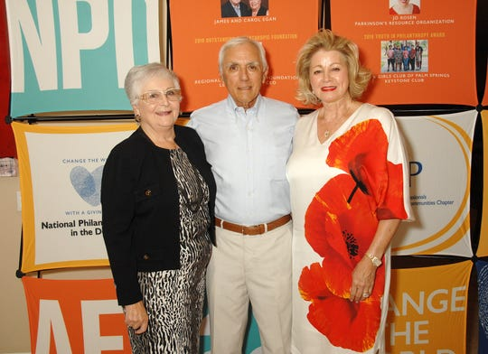 Pictured are Liz Chambers; Art Lupia; and nominee Jan Lupia, founder and executive director of Mama's House.