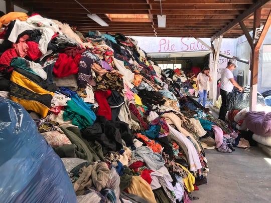A pile sale in Retro Row in Long Beach, Calif.