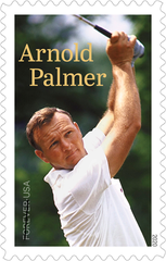 Arnold Palmer will be featured on a U.S. postal stamp in 20202, just the fourth American golfer so honored.
