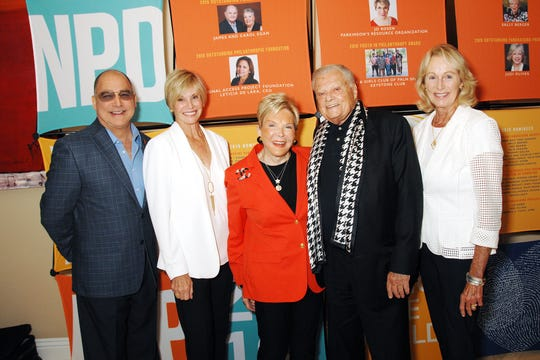 Attendees included Patrick Evans; Lori Serfling; Sally Berger, outstanding fundraising volunteer for the 2019 National Philanthropy Day® in the Desert; Harold Matzner, honorary chair and presenting sponsor of 2019 National Philanthropy Day in the Desert; and Shellie Reade.