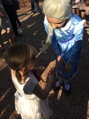 "Petra Danek, who played young Elsa in Greasepaint Youtheatre's ""Frozen Jr.,"" helped Willow, 3, track down Olaf."