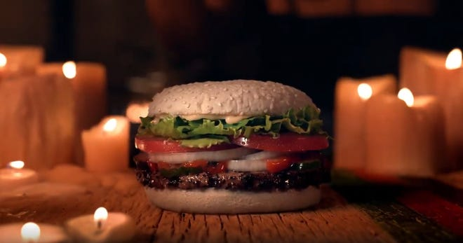 """A Burger King in Phoenix is one of 10 locations to serve the """"Ghost Whopper,"""" available Oct. 24-31."""