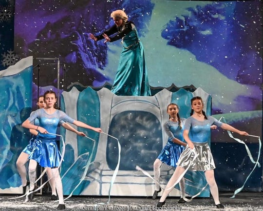 "Nora Palermo, 14, played Elsa in Greasepaint Youtheatre's ""Frozen Jr."""