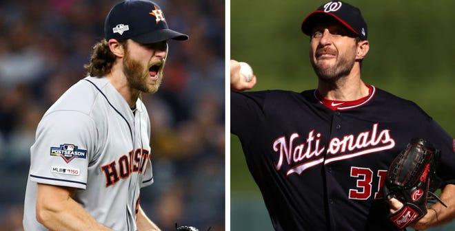 Gerrit Cole por los Astros y Max Scherzer por Nacionales serán los encargados de subir a la loma de las responsabilidades.