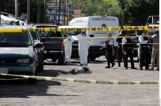 homicidios violentos aumenta en México.