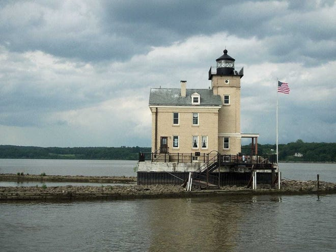 """Haunted Rondout Boat Rides"" this weekend will take visitors past the Roundout Lighthouse near Kingston."