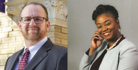 Matt Menges, left, and Sandra Thompson, right, are running for one open position on the York County Court of Common Pleas.