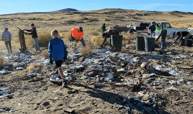 The Desert Pigs continue to clean up illegal dump sites along the Highway 50 corridor.