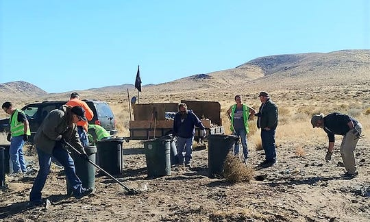 Illegal dump sites along the Highway 50 corridor are being cleaned up by the Desert Pigs.