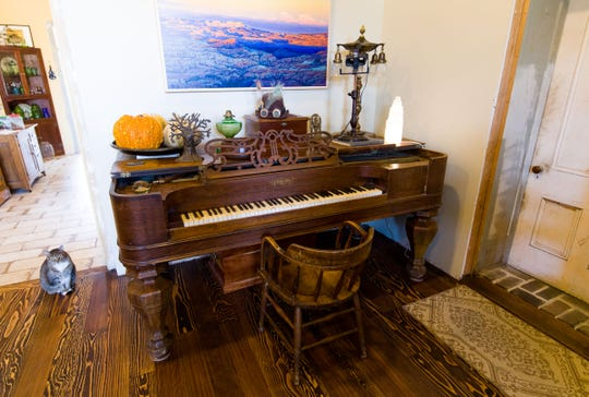 An antique piano brought across the plains in 1864 to Mound House has been at the hotel since 1870.