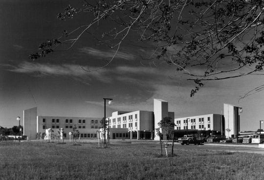 The newly minted Park Ridge Hospital in Greece back in 1975. The former Park Avenue Hospital relocated to this spot on Long Pond Road to address the need for a hospital on growing west side of Rochester. Park Ridge has since become Unity Hospital.