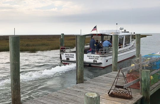 The Walter Ridder, captained by Larry Laird, helps bring students to and from Fox Island during the facility's final season.