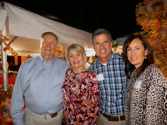 Willis-Knighton Chief Jim Elrod and his wife, W-K Vice President Margaret Elrod, Brian and Stacy Crawford at W-K Fall Barbecue.