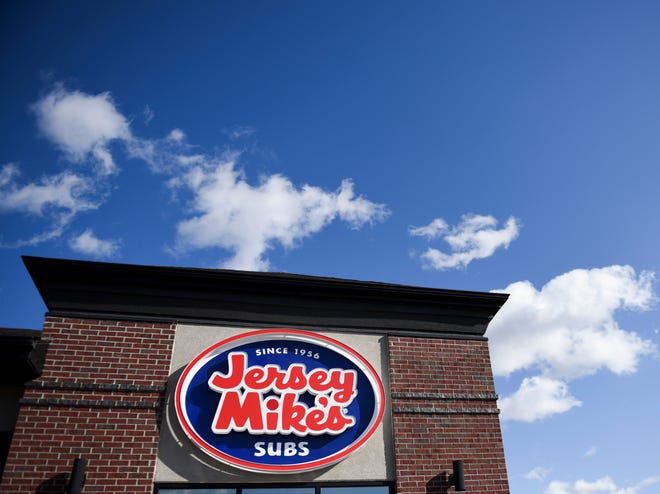 Jersey Mike's Subs, a sandwich chain, prepares for their grand opening on Louise Avenue on Tuesday, Oct. 22, 2019. The shop will open on Oct. 30, 2019.