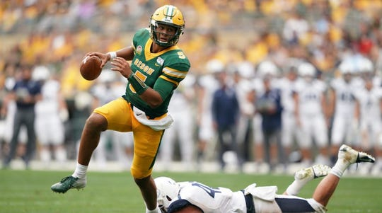 Trey Lance has 15 touchdown passes and no interceptions for NDSU