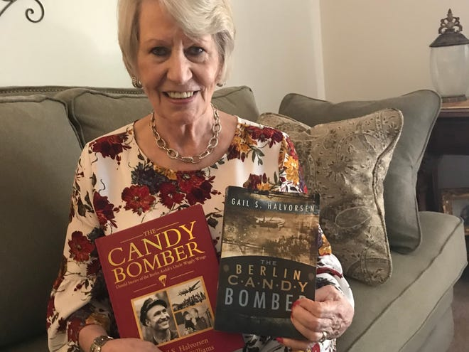 """Dagmar Weiss Snodgrass, 85, of Springfield, was a child growing up in Berlin during the Berlin Airlift of 1948-49. She is forever grateful to pilots from the U.S., England and France who flew in food and other supplies during a Soviet blockade and is particularly thankful to U.S. pilot Gail Halvorsen, the Berlin """"candy bomber,"""" who airlifted chocolate bars to the children of Berlin."""