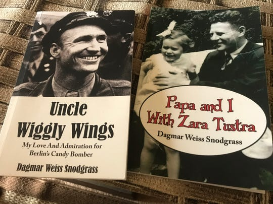 "Dagmar Weiss Snodgrass has had three books published, including her recently completed autobiography. She often speaks at churches and colleges about growing up in Berlin and U.S. pilot Gail Halvorsen, known as the ""Berlin candy bomber."""