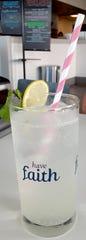 The sparkling Elderberry lemonade was very refreshing at Bomboloni Bakery & Cafe in Jensen Beach.
